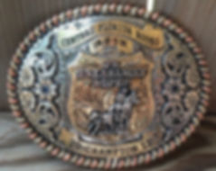 this laced edged buckle made for Central Florida Rodeo