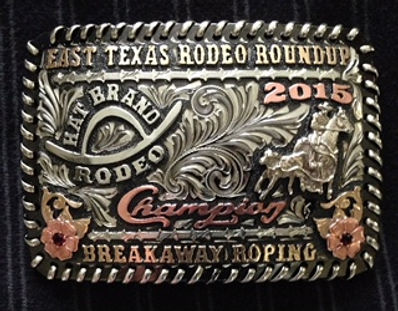 trophy buckle, laced edge, rodeo awards