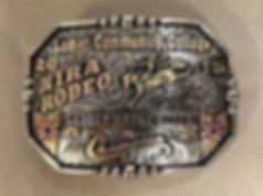 college rodeo trophy buckle