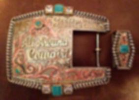 two piece western belt buckle, trophy buckle