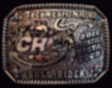 trophy buckle, laced edge, bull riding award, kelly slover