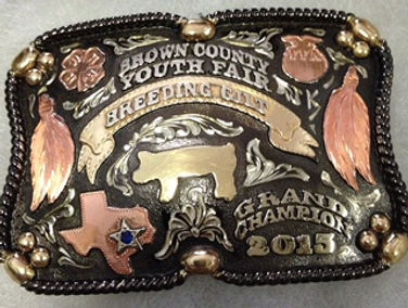 trophy buckles, box buckles, rodeo, lifestock show awards