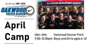 Soccer Camp April 15-19th