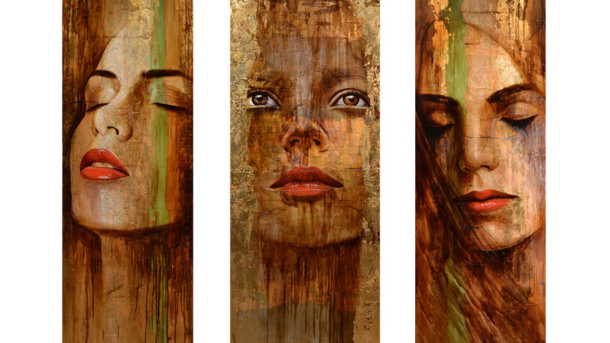 Mixed media 200cm x 60cm (each)  (sold)