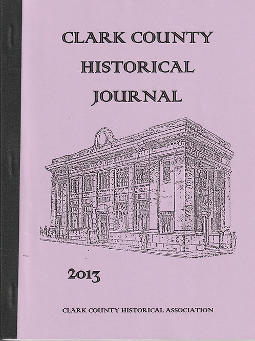 Clark County Historical Journal 2013