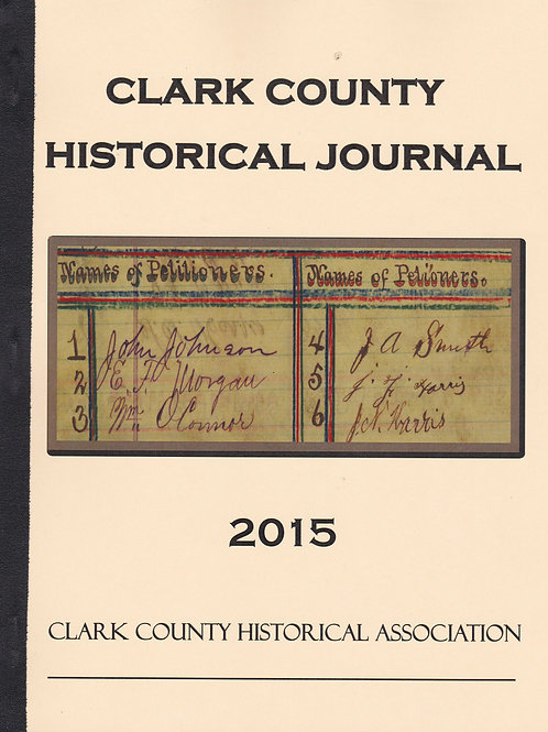 Clark County Historical Journal 2015