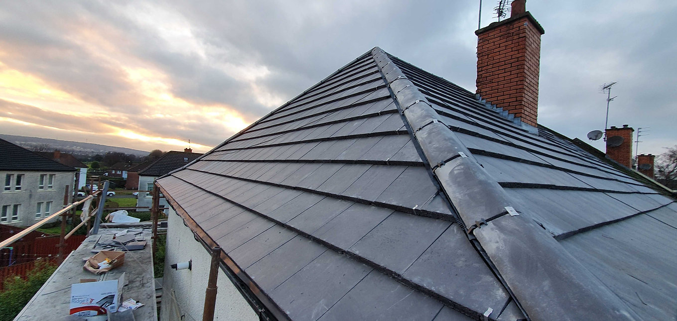 Full new roof completed by Re-roof Scotland Ltd