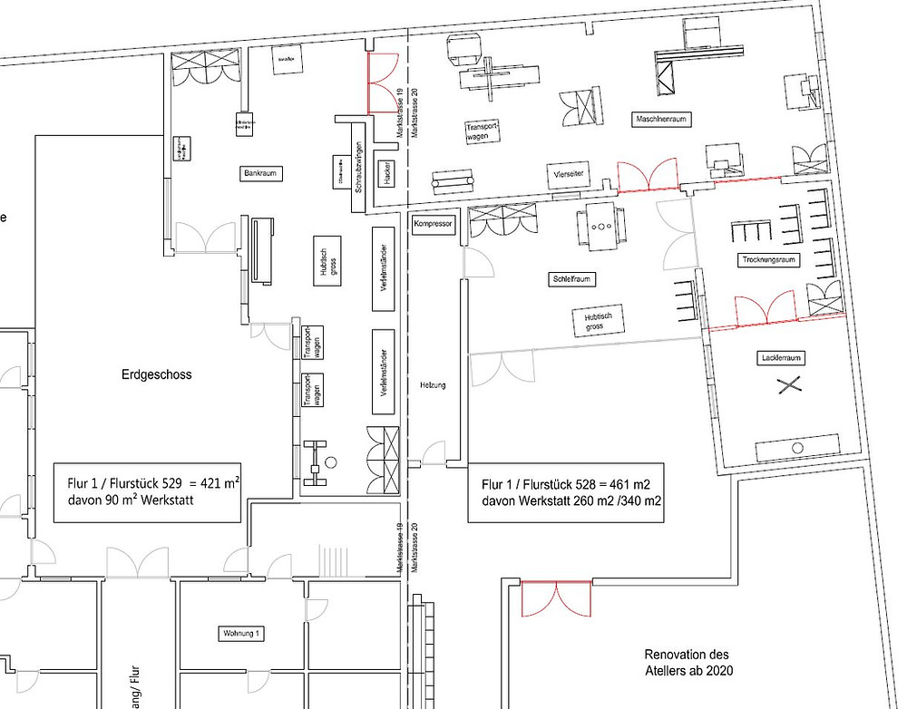 Floorplan of the workshop ..