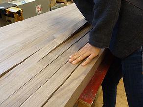 Artisanship skill lies in selecting wood