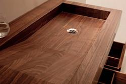Washbasin Waschbecken aus Holz