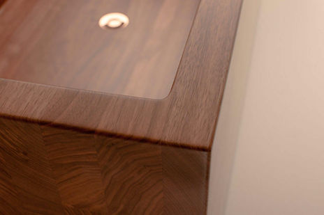 A detail: master cabinetry