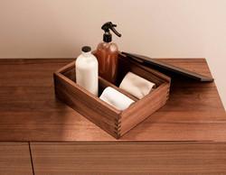 Wooden bathroom accessories