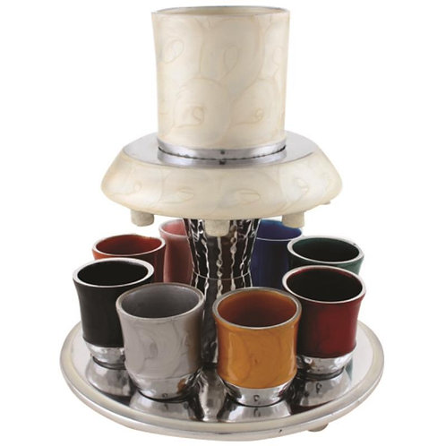 Aluminum wine divider 21 cm with 8 cups