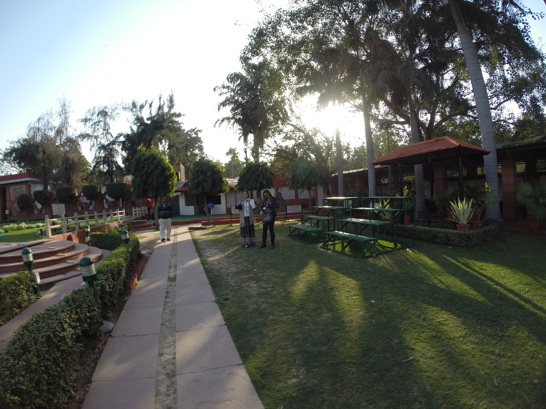 The martyrdom site of Mahatma Gandhi