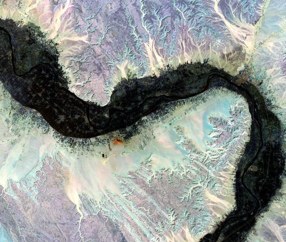 Landsat_8 Image near Luxor, Egypt