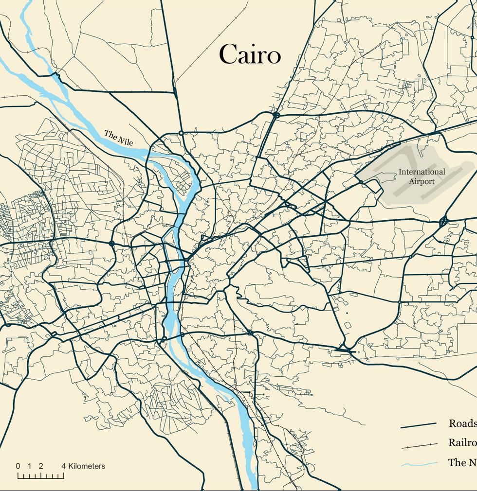 Road Network Cairo, Egypt
