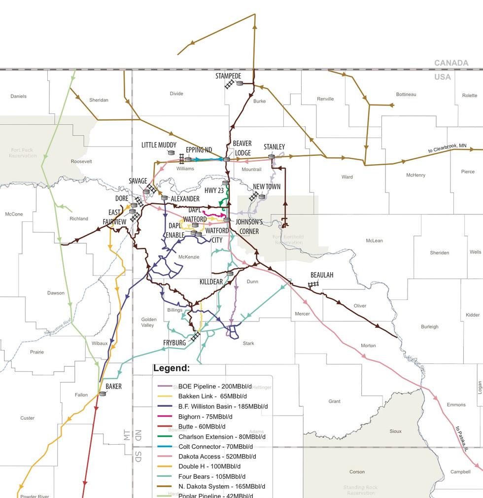 Bakken Flow Map Expanded