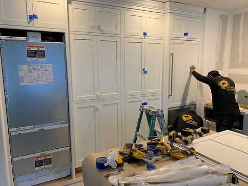 Our team is working on a integrated kitchen cabinets and appliances