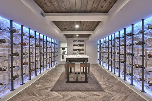 Wine cellar designed and built by our team