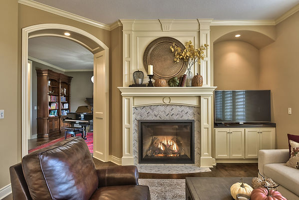 Story room by the fireplace