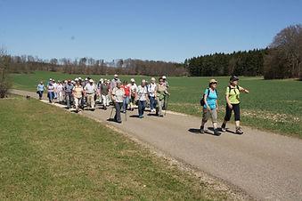 Wandergruppe bei der Biosphärenwanderung