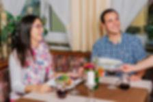 Juges Paar beim Abendessen