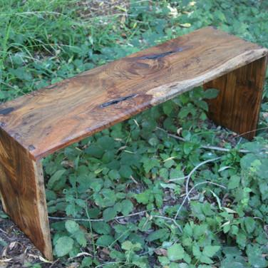 Black acacia bench