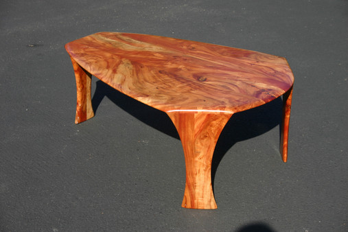 carob three leg coffee table