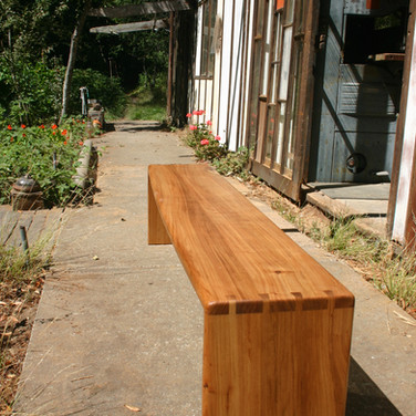 """Elm wood bench 14"""" by 72"""""""
