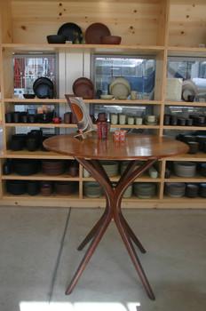 """42""""high display/bar table in situ at heath ceramics"""