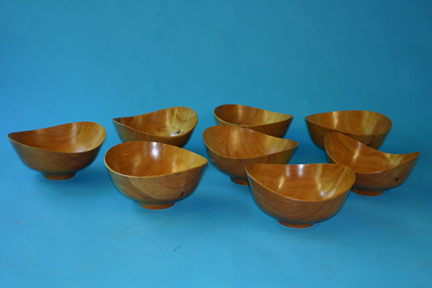"cypress Finn Julh designed bowls 14"" by 7 1/2"" high"