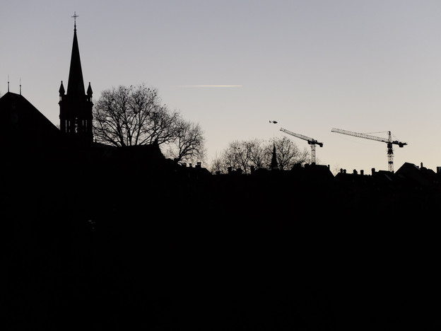 Abendhimmel über Bern