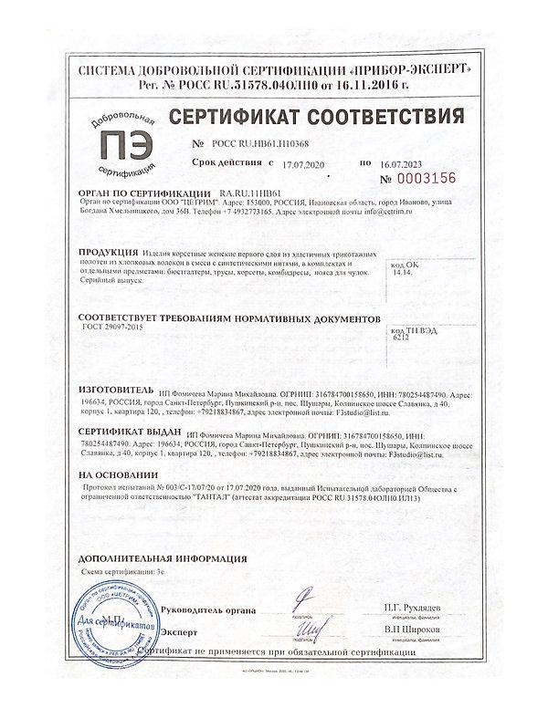 Per. No POCC RU.31578.0401H0 OT 16.11.20