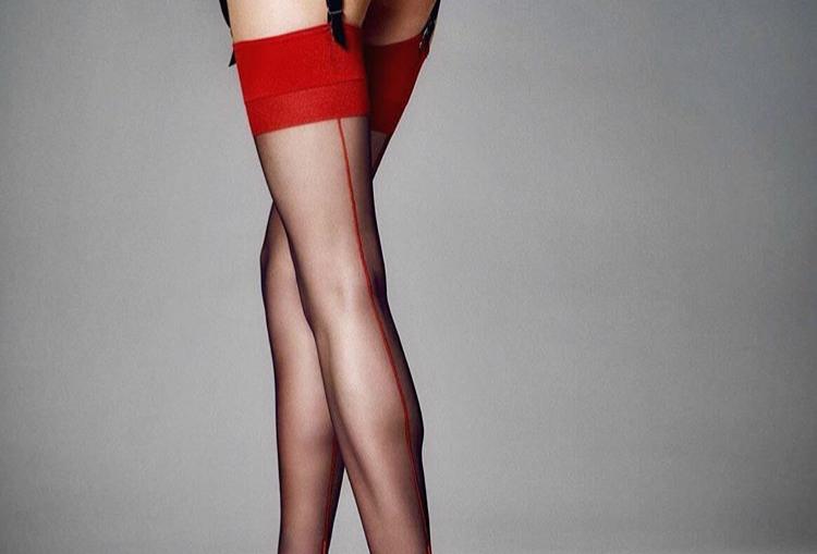 Red-black stockings