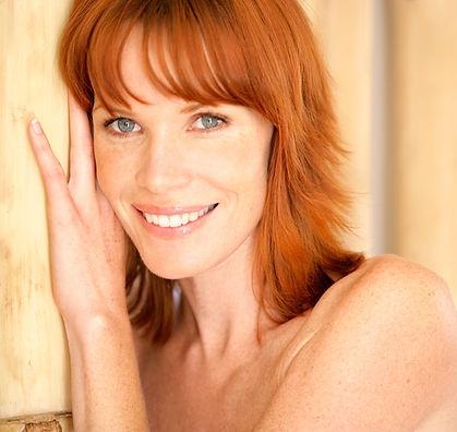 Redhead sonriente
