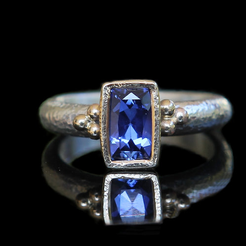Unique Modern Alternative Engagement Ring ~ 1.32ct  Blue Sapphire Ring