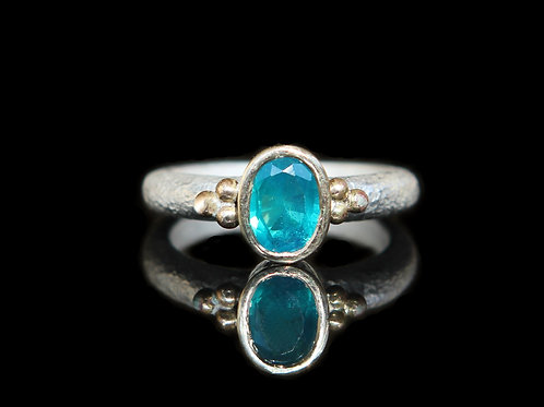 Unique Modern Alternative Engagement Ring ~ Certified 1.20ct  Teal Sapph