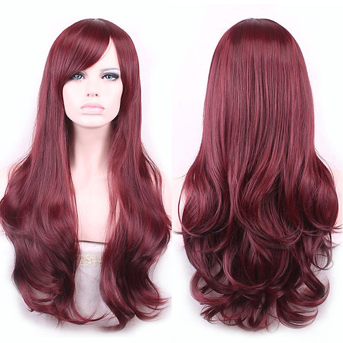 Long Remi Red Wig Front Lace