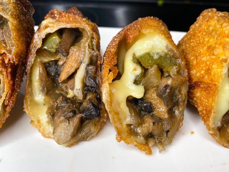 Vegan Philly Cheesesteak Egg Rolls