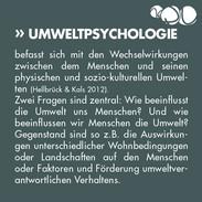 Was ist Umweltpsychologie?