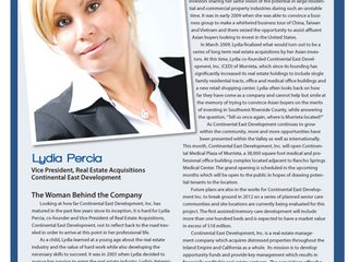Lydia Percia featured in Valley Business Journal