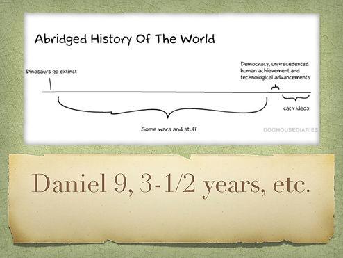 Daniel 9, 70 Sevens, 3-1/2 years