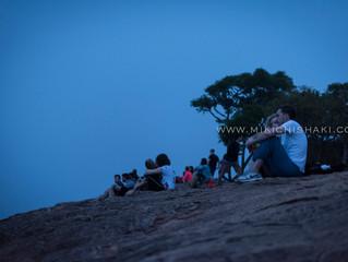 The view of Sigiriya rock from Pidurangala rock