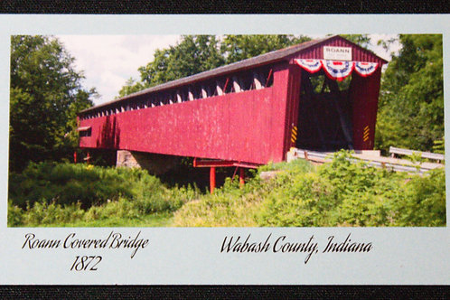 Roann Covered Bridge Refrigerator Magnet