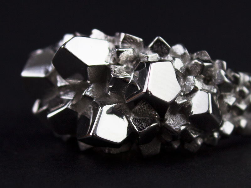 Platinum Top Crystal Ring