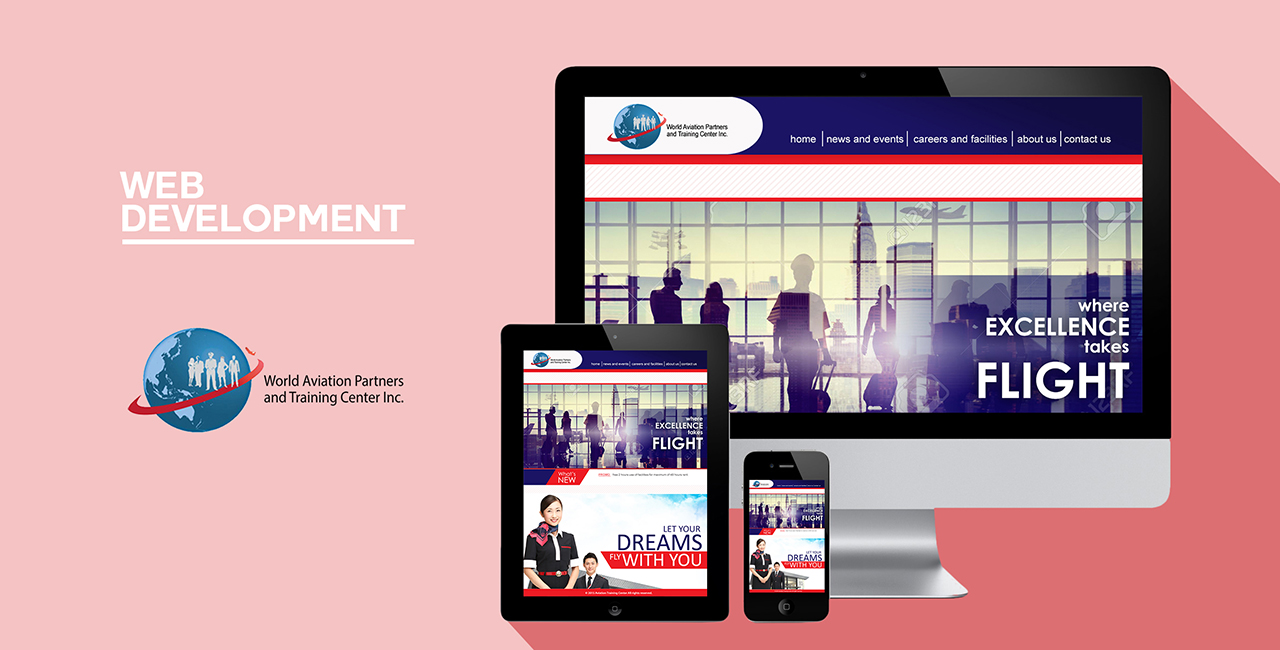 website mockup world aviation