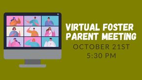 Virtual Foster Parent Information Meeting - 10/21