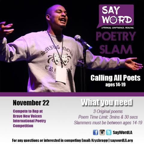 Slam Season has BEGUN!!! Be apart of the movement, the connection and the community that travels across California and to Brave New Voices Representing Southern California