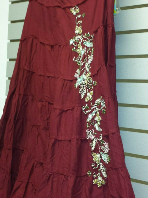 Dark Red BoHo with Sequins
