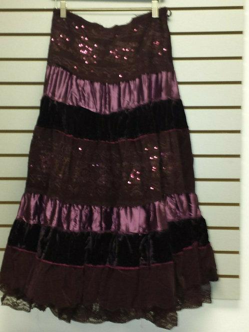 Purple Layered BoHo Skirt